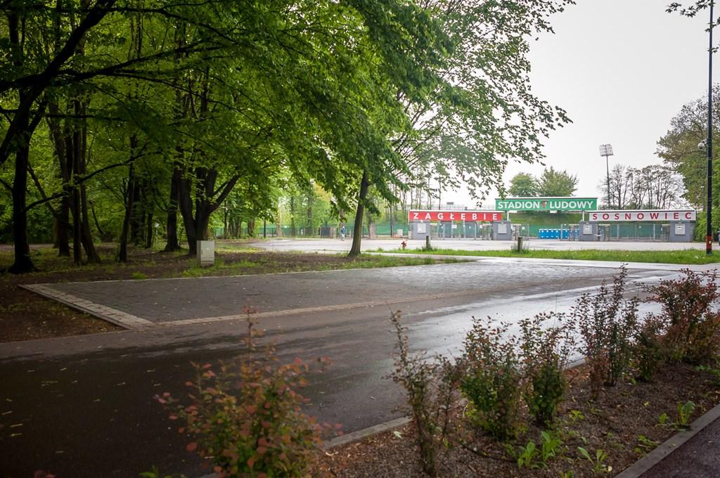 Miejskie pod wypożyczalnie rowerów na Stawikach w Sosnowcu - fot. UM Sosnowiec