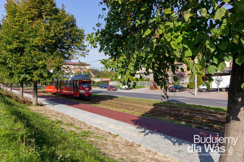 Droga rowerowa przy ulicy Andersa w Sosnowcu - fot. UM Sosnowiec