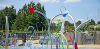 Wodny plac zabaw w Jaworznie - fot. UM Jaworzno