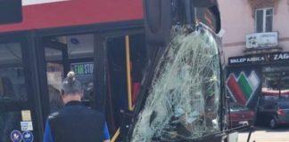 Autobus zderzył się z ciężarówką - fot. Facebook/ @Sosnowiec998