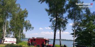 Tragedia na jeziorze Pogoria III - fot. KMP w Dąbrowie Górniczej