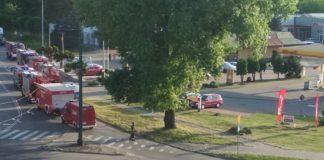Wyciek gazu na stacji benzynowej - fot. Facebook/ @Sosnowiec998