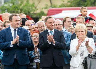 Ewa Malik z marszałkiem woj. śląskiego i prezydentem RP - fot. Tomasz Żak/UMWS