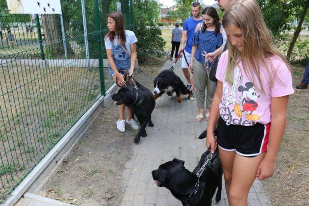 """Otwarcie wybiegu dla psów """"Aubuś"""" w Czeladzi – fot. UM Czeladź"""