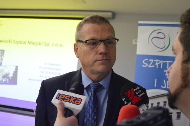 Prezes Sosnowieckiego Szpitala Miejskiego Dariusz Skłodowski - fot. MZ