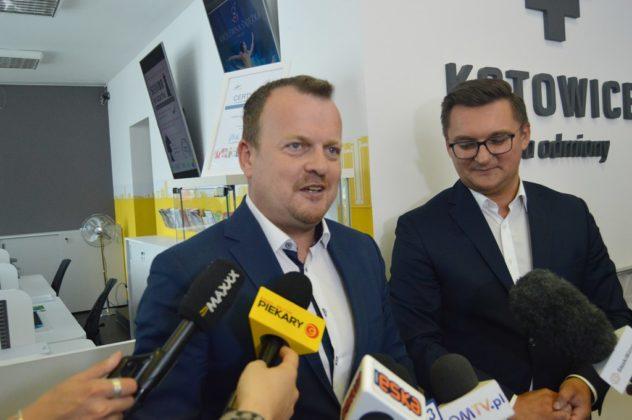 Briefing prasowy Arkadiusza Chęcińskiego i Marcina Krupy - fot. MZ