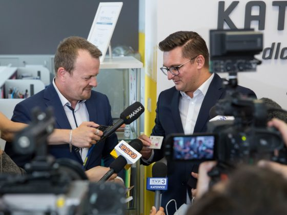 Briefing prasowy Arkadiusza Chęcińskiego i Marcina Krupy - fot. Urząd Miasta Katowice