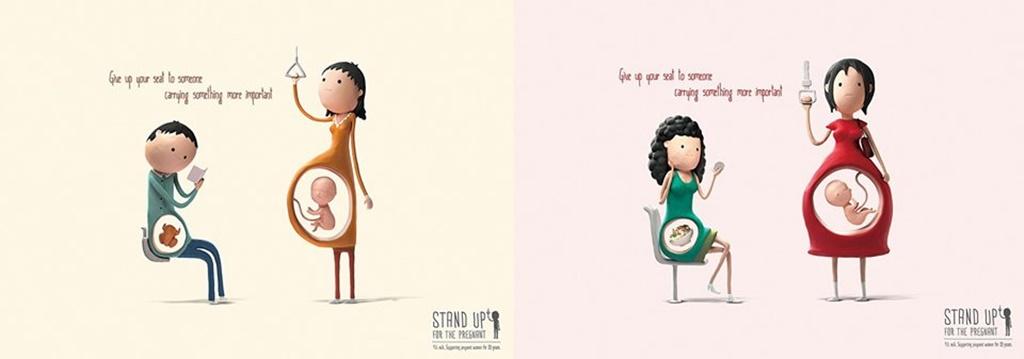 Ustępowanie miejsca kobiecie w ciąży - fot. PKM Sosnowiec