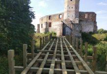 Remont mostu na zamku w Siewierzu - fot. Miejsko-Gminne Centrum Kultury Sportu i Turystyki w Siewierzu