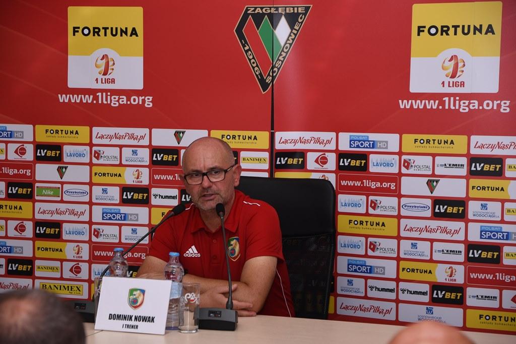 Trener Miedzi Legnica Dominik Nowak – fot. zaglebie.eu