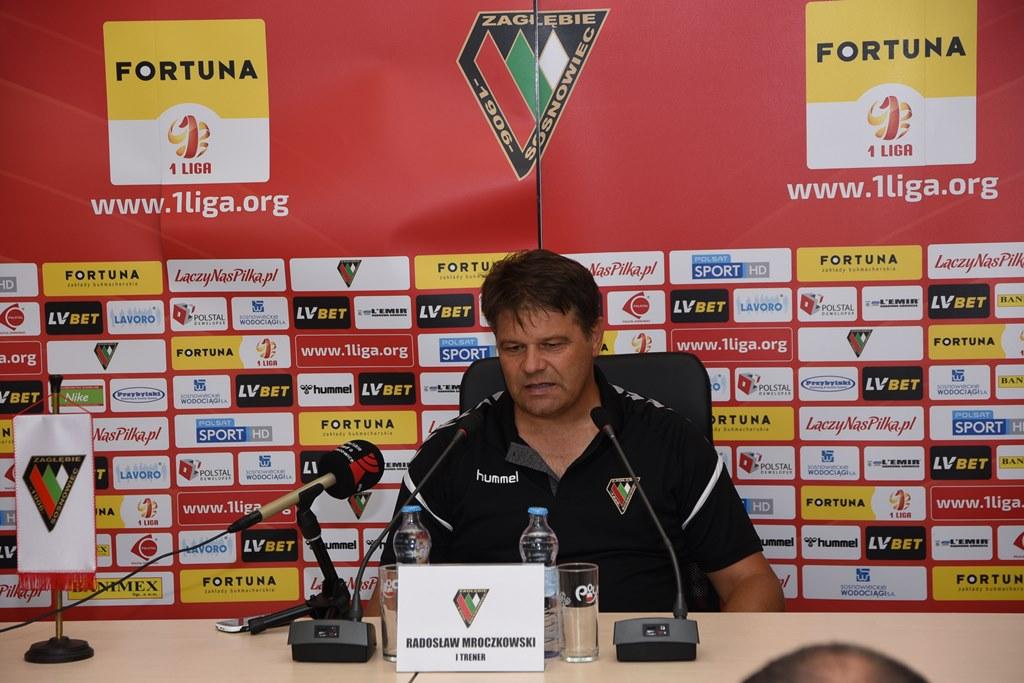 Trener Zagłębia Sosnowiec Radosław Mroczkowski – fot. zaglebie.eu