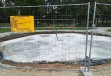 Trwa budowa tężni solankowej w parku Grabek – fot. UM Czeladź