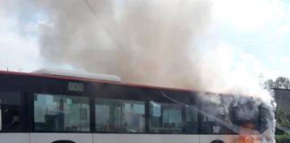Pożar autobusu Będzin - fot. Facebook/@Sosnowiec998 - Szymon Lubaszka
