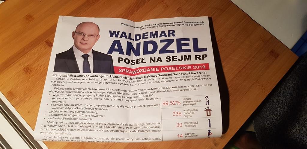 Broszura promująca Waldemara Andzela - fot. Patrycja Juszczyk