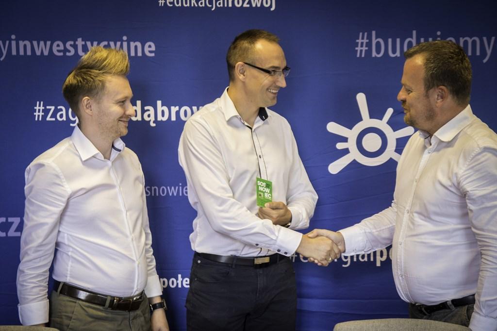 Podpisanie umowy na przebudowę skrzyżowania ulic Ostrogórskiej i Jagiellońskiej – fot. Paweł Leśniak/UM Sosnowiec