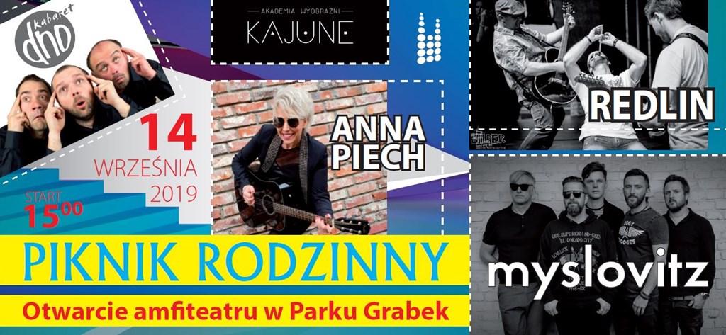 Piknik rodzinny z okazji otwarcia amfiteatru w parku Grabek - fot. UM Czeladź