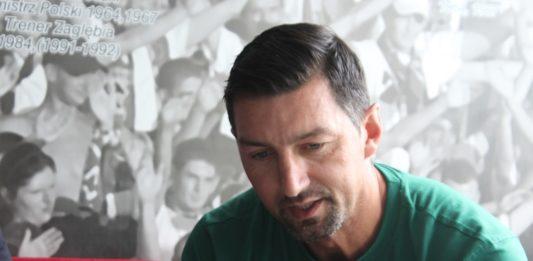 Trener Zagłębia Sosnowiec Dariusz Dudek - fot. Andrzej Wydrychiewicz