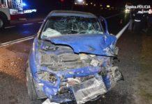 Pijany kierowca spowodował wypadek - fot. KPP w Zawierciu