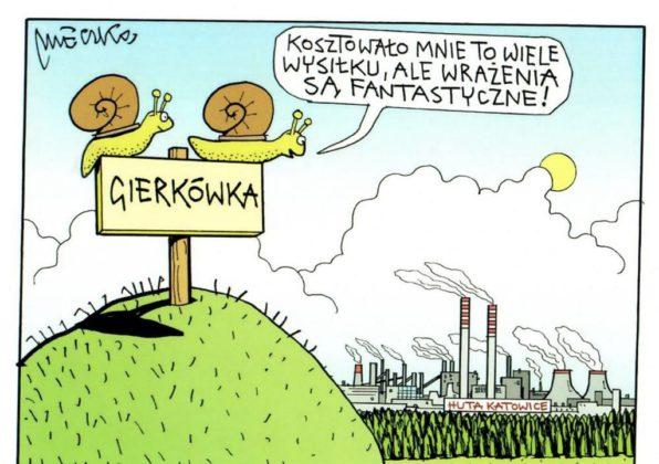 Andrzej Mleczko narysował Dąbrowę Górniczą – fot. Andrzej Mleczko