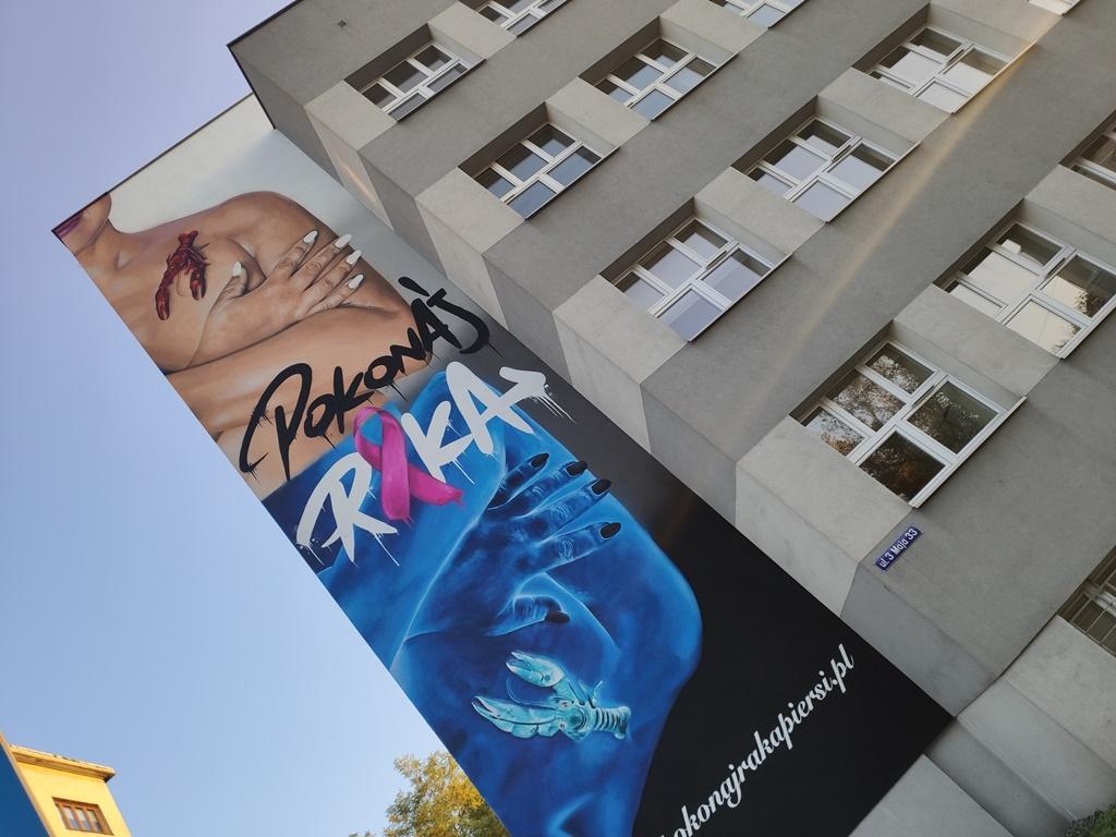 Mural Pokonaj raka - fot. MC