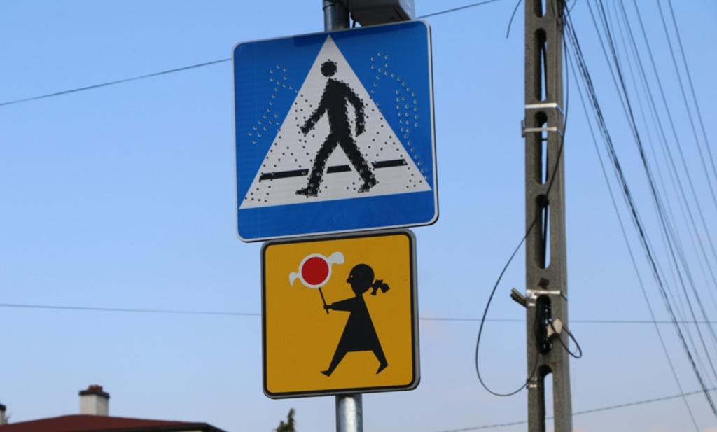 Inteligentne przejścia dla pieszych - fot. Gmina Psary