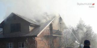 Tragiczny pożar Toporowice - fot. KPP w Będzinie