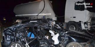 Tragiczny wypadek 19-latków - fot. KPP w Zawierciu