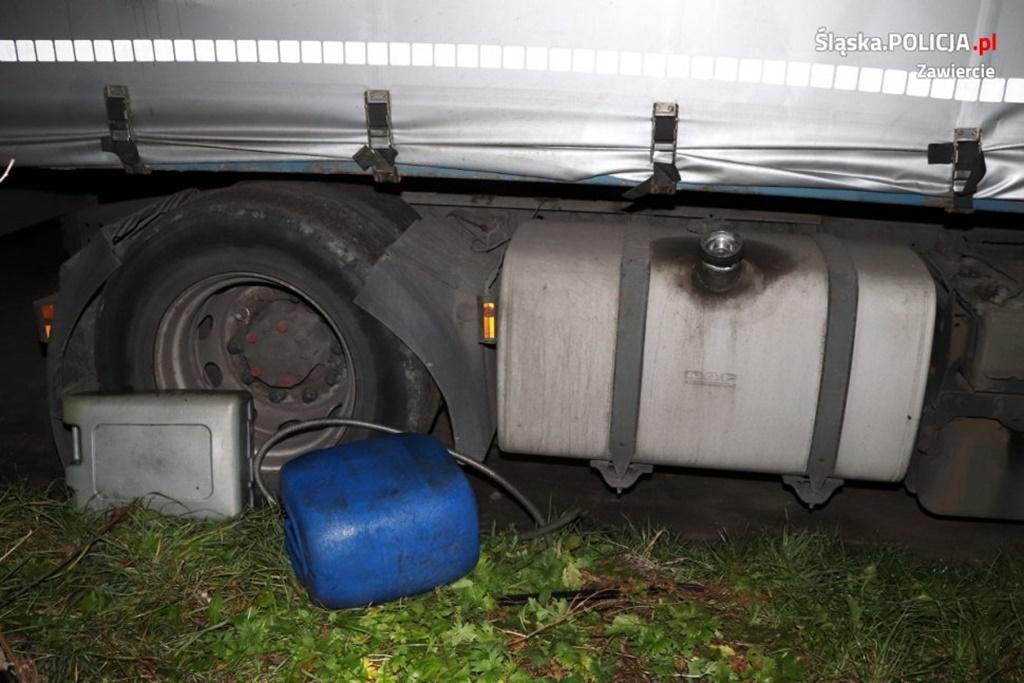 Kradł paliwo z cysterny - fot. KPP w Zawierciu