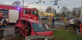 Tragiczny wypadek na DK94 w Sławkowie - fot. Facebook @Będzin112