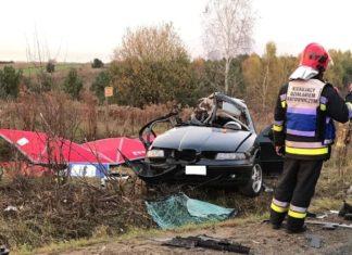 Trzech nastolatków zginęło w wypadku samochodowym - fot. Zawiercie112