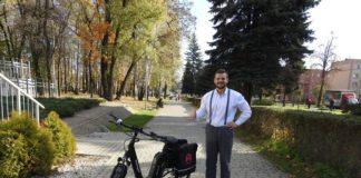 Rowerowe wyzwanie burmistrza Wojkowic - fot. Facebook Tomasz Szczerba