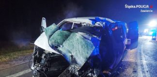 Tragiczny wypadek na DK78 - fot. KPP w Zawierciu