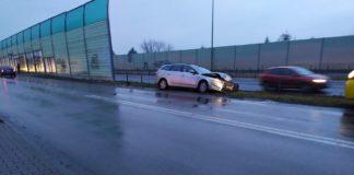 Karambol w Dąbrowie Górniczej - fot. Facebook @Będzin112