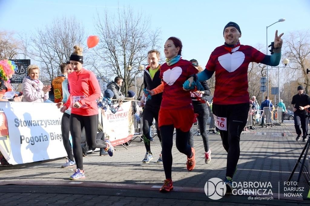 Bieg Walentynkowy w Dąbrowie Górniczej - fot. Dariusz Nowak