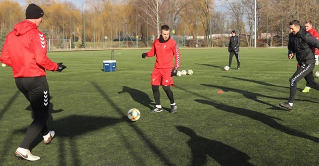 Trening z piłkarzami Zagłębia - fot. UM Ssnowiec