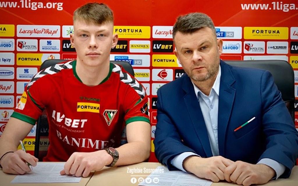 Kacper Łopata nowym piłkarzem Zagłębia Sosnowiec - fot. zaglebie.eu
