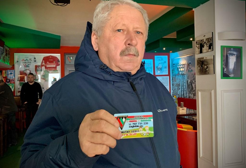 Ryszard Moskwa nabywcą pierwszego karnetu - fot. zaglebie.eu