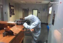 Poszukiwany z podejrzeniem koronawirusa zgłosił się na policję - fot. KMP w Jaworznie