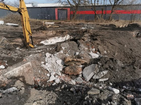 Pokopalniane kłopoty na budowie parkingu przy ul. Francuskiej – fot. UM Czeladź