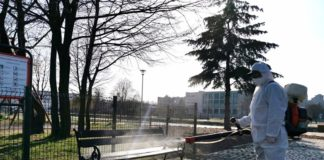 Dezynfekcja miasta Będzin - fot. UM Będzin