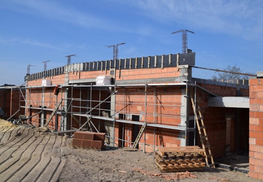 Trwają prace przy budowie przedszkola i żłobka - fot. Urząd Miasta i Gminy Siewierz