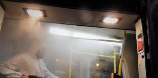 Parowa dezynfekcja tramwajów - fot. Tramwaje Śląskie