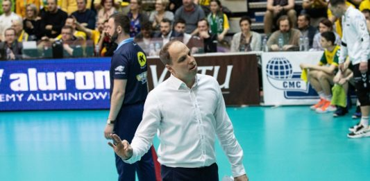Dominik Kwapisiewicz nadal trenerem Aluronu Virtu CMC Zawiercie – fot. mat. pras.