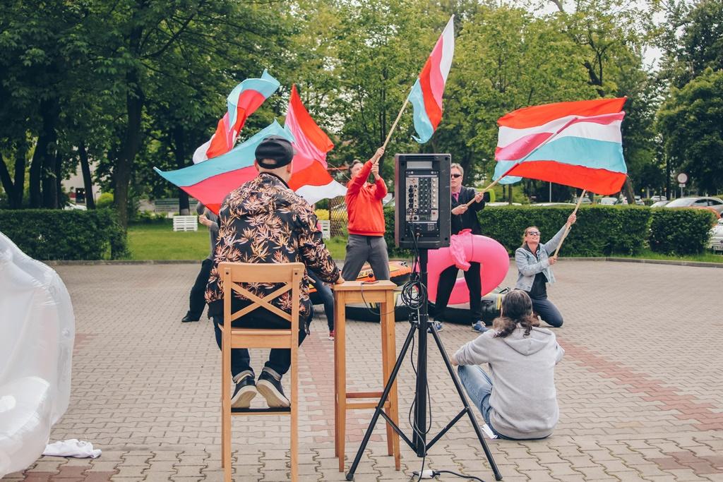 """Zdjęcie z próby do spektaklu """"Republika Marzeń"""" w Teatrze Zagłębia – fot. Paweł Wojciechowski"""