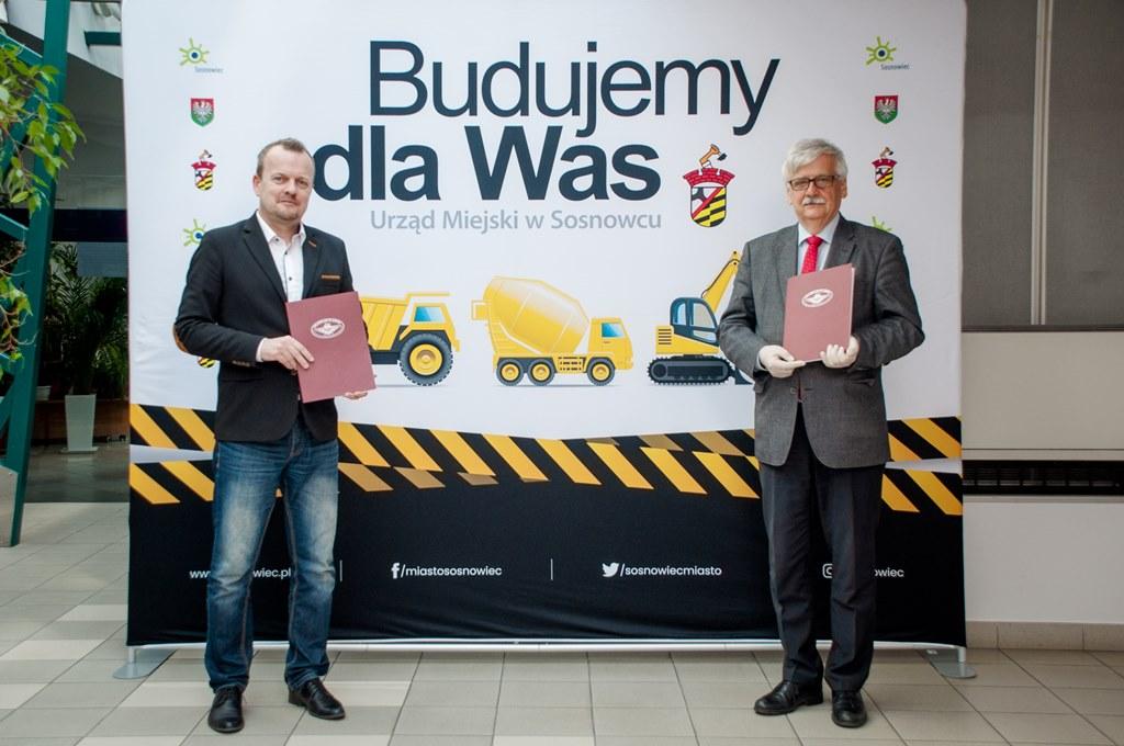 Podpisanie umowy na budowę nowej linii tramwajowej w Sosnowcu - fot. UM Sosnowiec