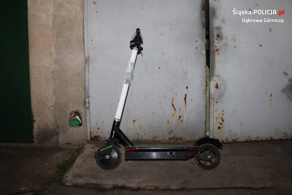Dąbrowianin przywłaszczył sobie hulajnogę elektryczną – fot. Policja Dąbrowa Górnicza