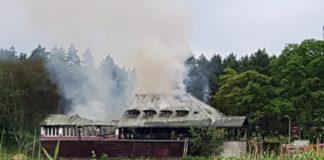 Pożar nieczynnej restauracji nad Balatonem - fot. Jakub Kopeć