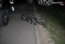 Śmiertelne potrącenie rowerzystki w Mierzęcicach – fot. Policja Będzin