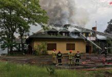Pożar nieczynnej restauracji nad Balatonem – fot. Policja Sosnowiec