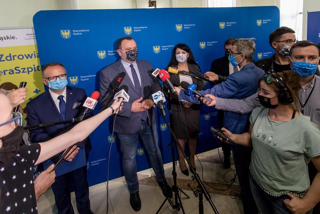 Dziennikarze na konferencji z Wojciechem Kałużą - fot. Tomasz Żak/UMWS